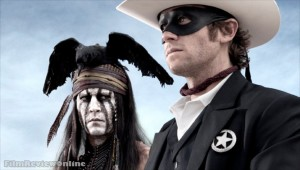 The Lone Ranger - Johnny Depp and Armie Hammer