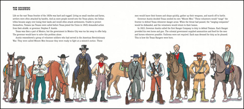 inside pages of The Texas Rangers: Legendary Lawmen