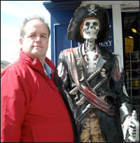 Mike with pirate